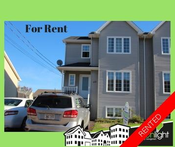 Moncton Semi-Detached for rent:  3 bedroom  (Listed 2018-12-01)