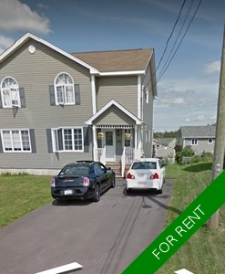 MONCTON Semi-Detached for rent:  3 bedroom