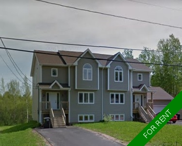 MONCTON Semi-Detached for rent:  3 bedroom  (Listed 2017-09-01)